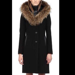 Mackage Hooded wool blend coat